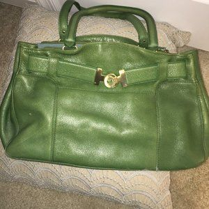 Cole Haan Green Leather Bag